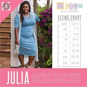 LuLaRoe Dresses - Lularoe Julia dress M